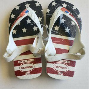 Havaianas 8c US Flag July 4th Flip Flops Strapped